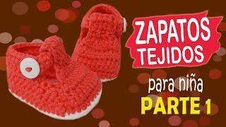 Zapatitos de niña tejidos a crochet | parte 1/2