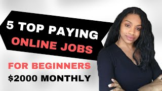 5 High Paying Online Jobs You Should Try In 2020! Best Passive Income Ideas.
