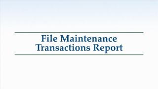 Fraud Series: 6. File Maintenance Transactions Report