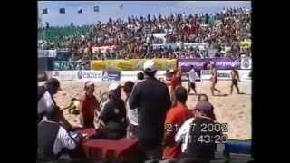 Кадиз Испания.  Чемпионат Европы 2002. Пляжный гандбол.