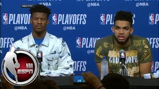 [FULL] Jimmy Butler says he has to defend James Harden better | NBA on ESPN