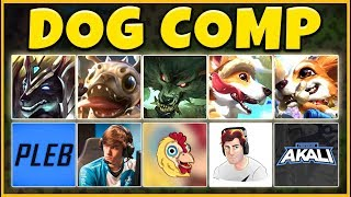 DOG COMP 2019 (PUPPIES IN LEAGUE) THE CUTEST COMP EVER - League of Legends