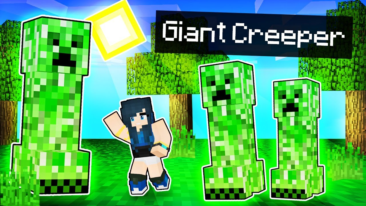 Playing with GIANT MOBS in Minecraft!
