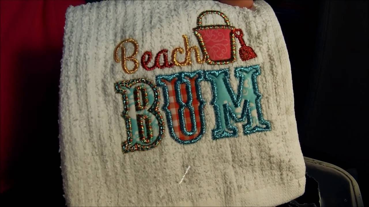 Applique Tutorial For Brother Embroidery Machine Using