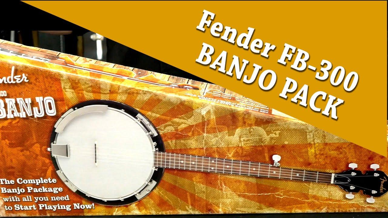 Fender FB300 Banjo Pack un-boxing with Cranbourne Music