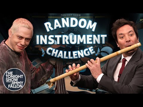 Random Instrument Challenge with Pete Davidson | The Tonight Show Starring Jimmy Fallon