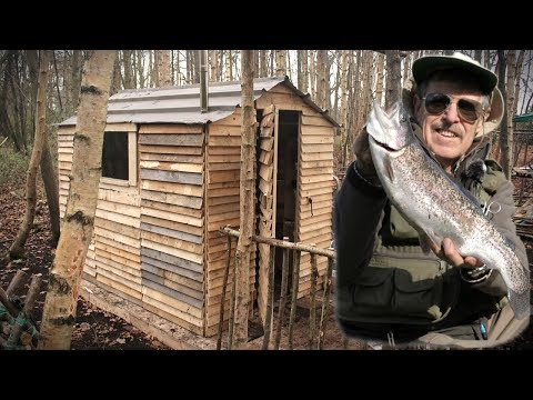 CATCH and COOK: FRESH TROUT on the Woodstove at The Off Grid Pallet Cabin