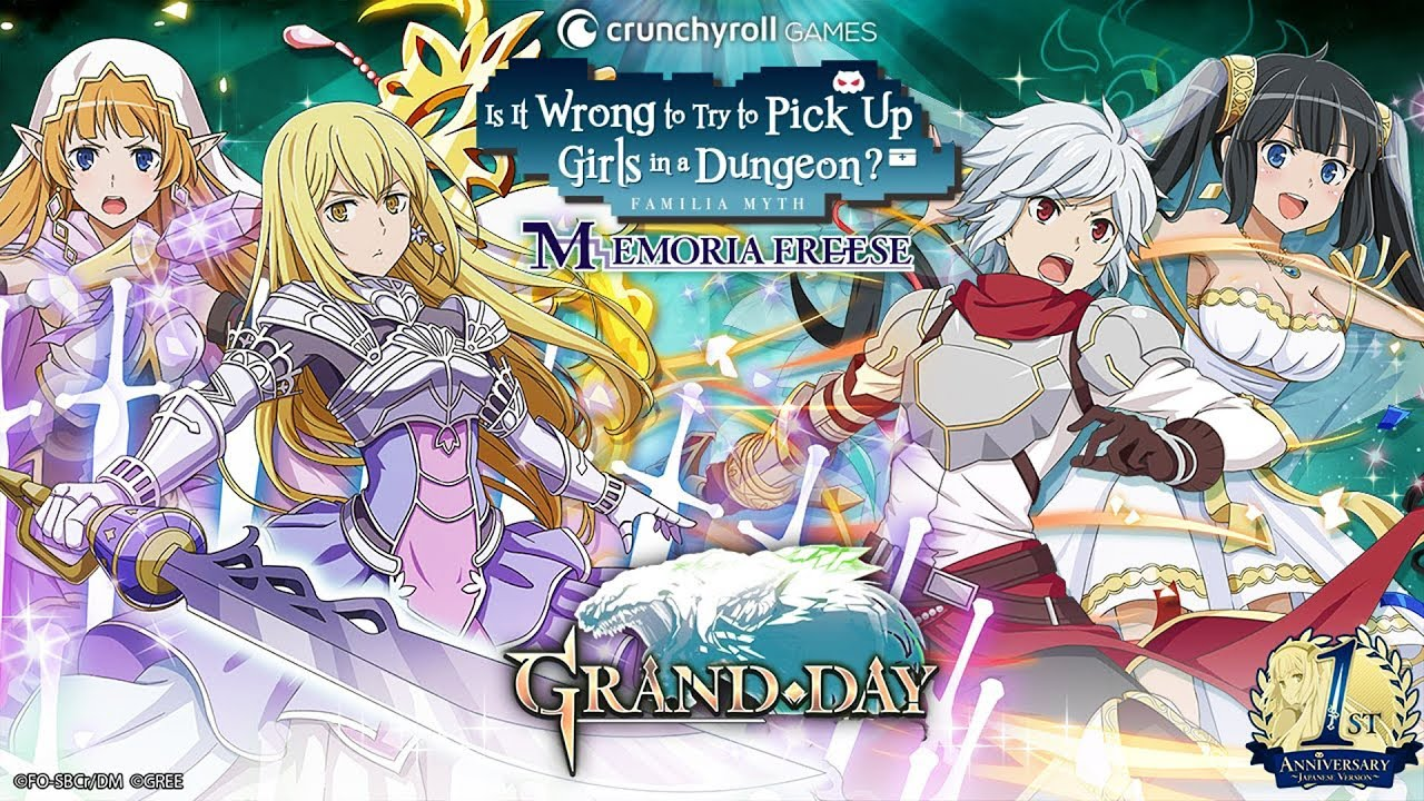 NEW DANMACHI MEMORIA FREESE GRAND DAY GACHA BREAKDOWN!
