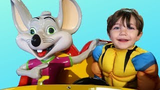 Nursery Rhymes Song Chuck E Cheese Indoor Playground and Activities for Kids!