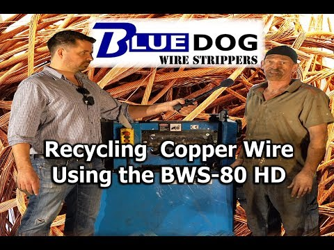 Using the Bluedog BWS-80 HD Cable Stripper Machine on a real demolition site