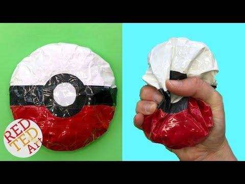 Pokeball Paper Squishy - DIY Pokemon Squishy - How to make a squishy no foam