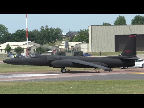 Insane Tesla & U-2 Spy Plane Take Offs at RAF Fairford