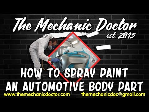 How to Spray Paint an Automotive Body Part