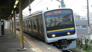 JR東日本  総武本線 午後の都賀駅 ・特急 E259系 通過 &・快速・普通 E217 209系 2017 .10