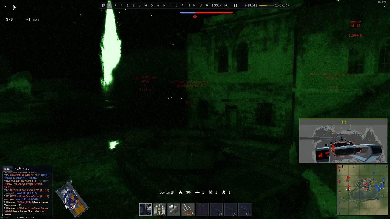 Download war thunder leopard A1A1 gameplay night match