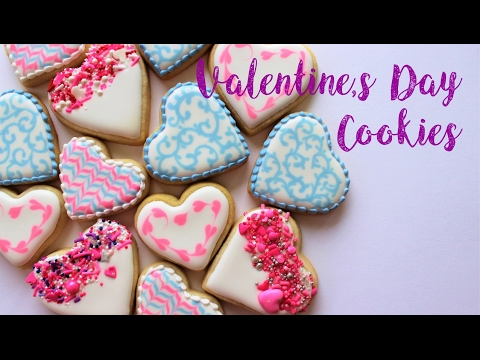 How To Decorate Easy Valentines Day Cookies Youtube