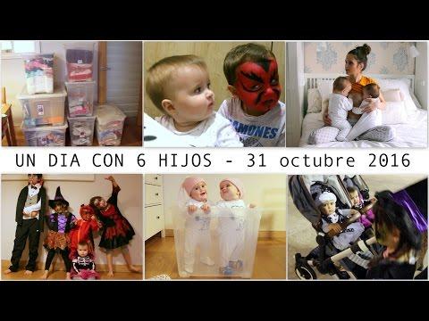 UN DÍA CON 6 HIJOS !!! HALLOWEEN + Youtube nos censurará + Cambio de Armarios MELLIZAS 9 MESES
