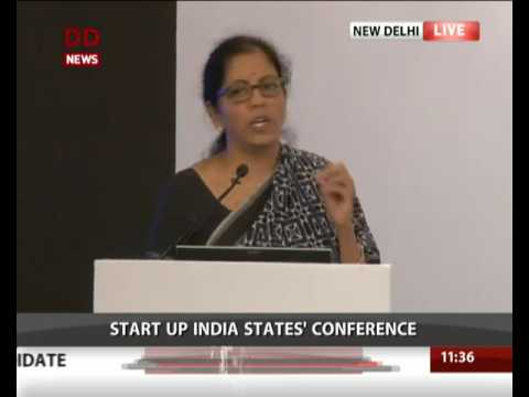 Commerce and Industry Minister addresses a conference on  Startup India