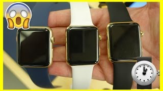 3 Gold Apple Watches!