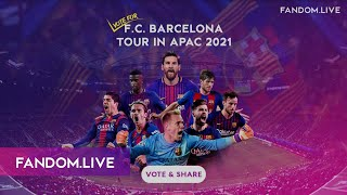 Voting for f.c barcelona tour 2020/21 in asia has officially started now! don't hesitate to show your love the catalan giants. head fandom live and ca...