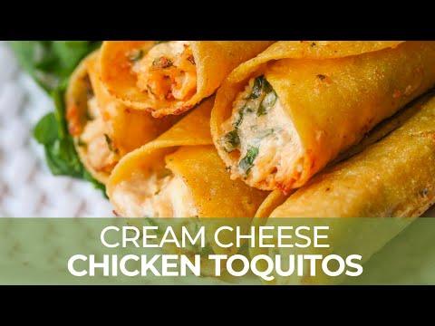 Cream Cheese Chicken Taquitos