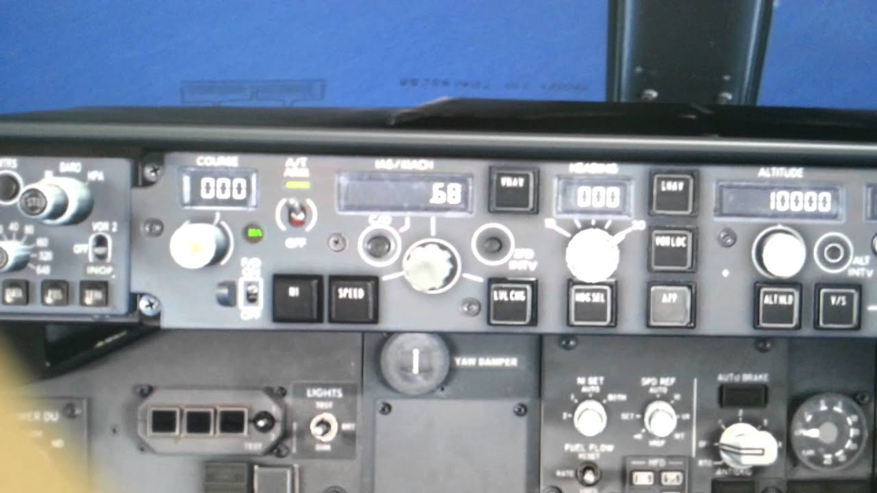 737 NGX MCP Change Over Button Test