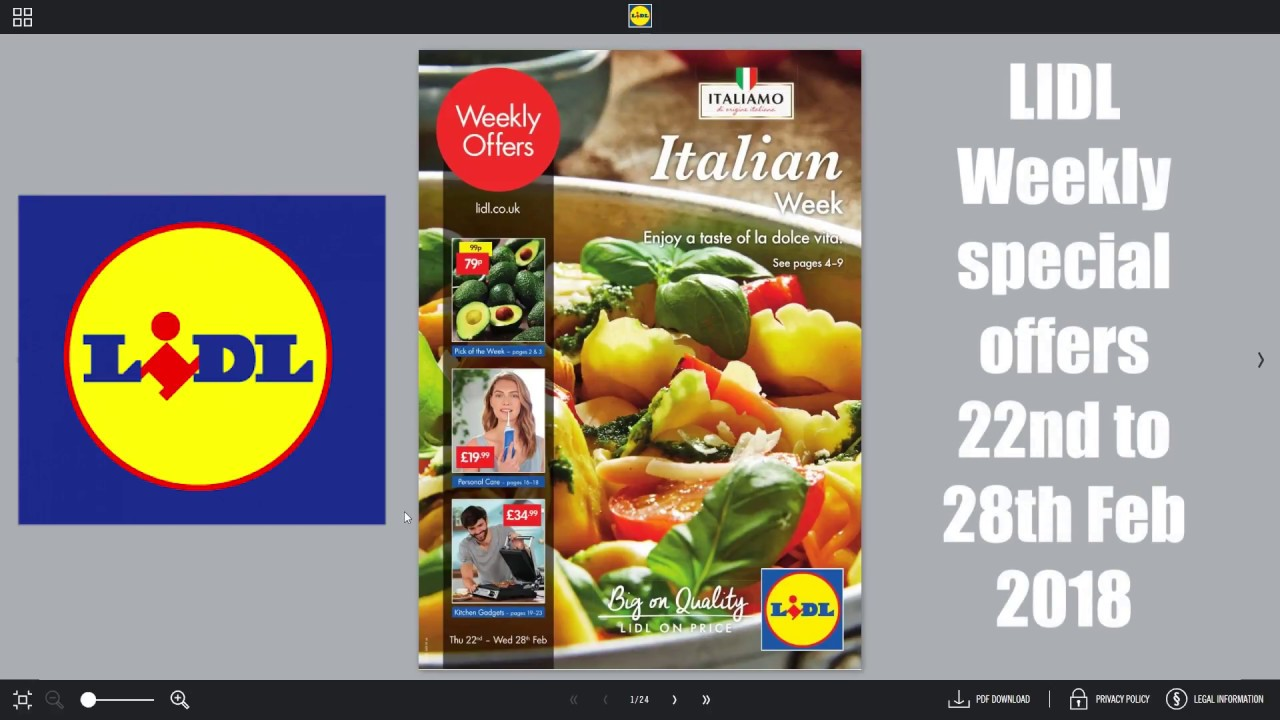 Lidl Italiaanse Week Lidl Weekly Special Buys 22nd 28th February 2018 Italian Week
