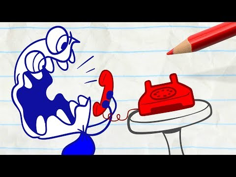 Pencilmate Gets 1,000 Missed Calls! -in- PHONEY BALONEY - Pencilmation Cartoons for Kids