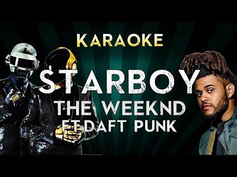 The Weeknd - Starboy (Feat. Daft Punk) | LOWER Key Karaoke Instrumental Lyrics Cover Sing Along