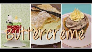 4 Buttercreme Arten & Rezept - für Cupcakes, Tortenfüllungen - auch vegan