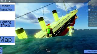 RMS TITANIC SINKING ROBLOX [TINY SHIPS]
