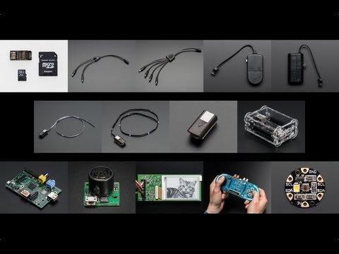 Raspberry Pi Model A & Flora Color Sensor! New Products 5/4/2013