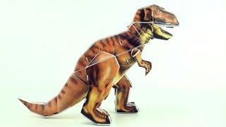 Tyrannosaurus Rex 3D Puzzle - Dinosaur model of T-Rex - 3D Dinosaurs Speed build