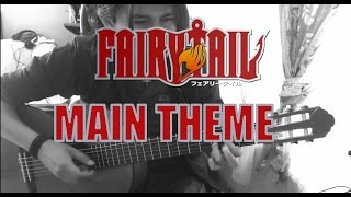 fairy tail tutorial fingerstyle main theme Guitar Cover Guitarra