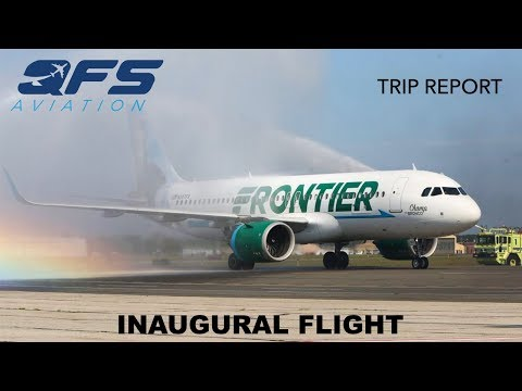 INAUGURAL FLIGHT | Frontier Airlines - A320neo - Orlando (MCO) to Islip (ISP) | Economy