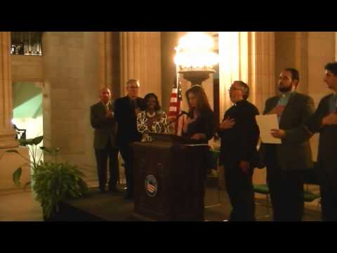 Armenian and US National Anthems in Cleveland City Hall