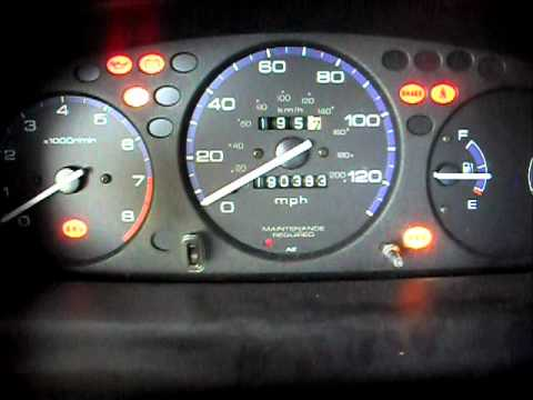 99 Civic CEL and ABS blinking codes - YouTube