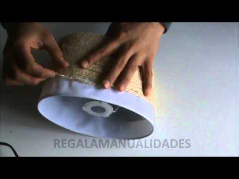 Cómo restaurar una lámpara de mesa con cuerdas (How to restore a ...