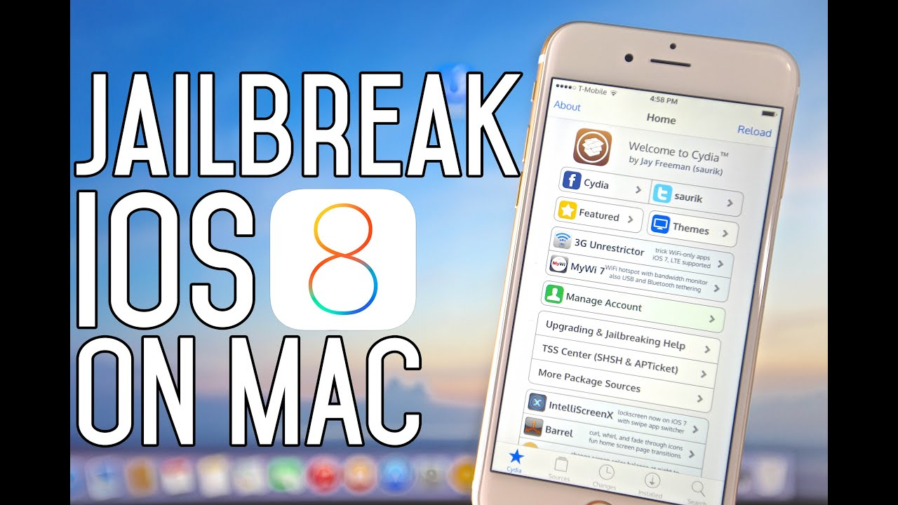 How To Jailbreak iOS 8 - 8 1 Untethered Mac Version - iPhone, iPad & iPod  Touch