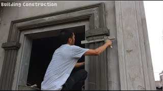 Construction Sand and cement | Build Beautiful Window Frame Outdoors