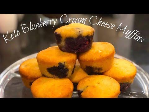 Keto Muffins Blueberry Cream Cheese