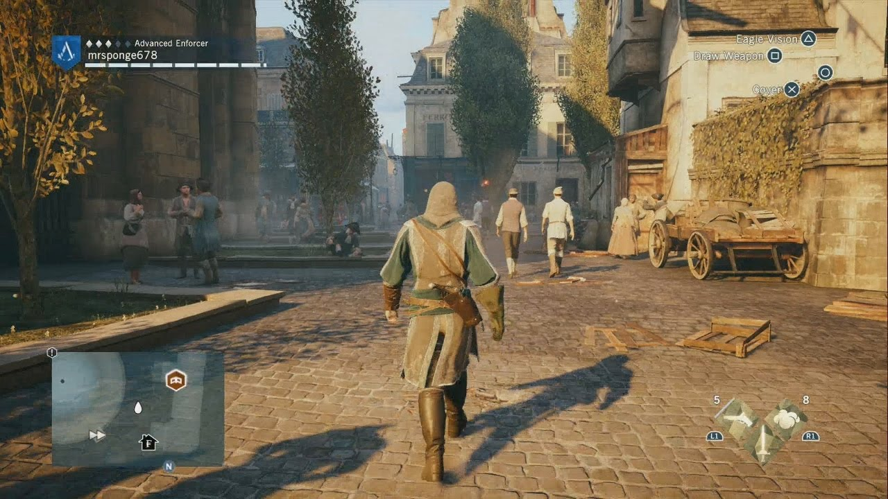 Ps4 Assassin S Creed Unity Free Roam Gameplay 1 Youtube