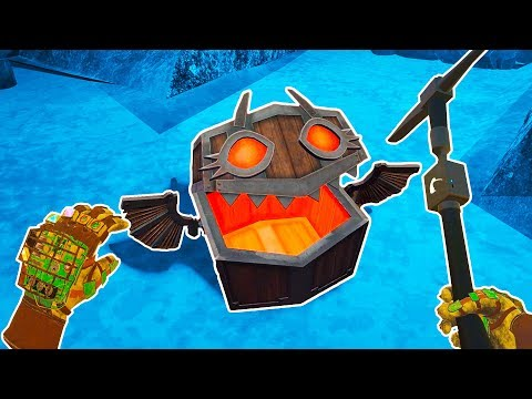 I Went Mining Deep Underground And This Chest Came To Life In Cave Digger VR!