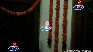 Rangoli making and little decor of my house