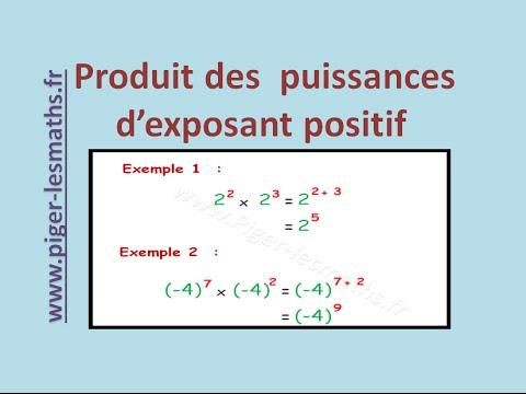 Comment calculer le produit des puissances d 39 exposant positif math 4 me youtube - Comment calculer les puissances ...