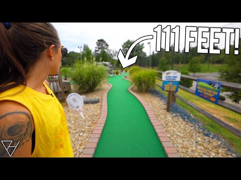 The Longest Mini Golf Hole in the Carolinas! - Hole in One and Awesome Holes!