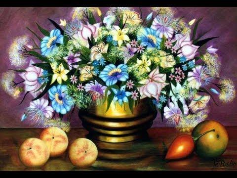 Arte pinturas al oleo flores raphael puello youtube - Oleos de jardines ...