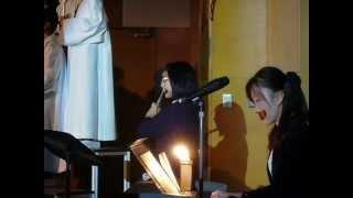 2012.12.15 Hanako(age12) 森一弘司教作詞 ・新垣壬敏作曲 小学校クリス...