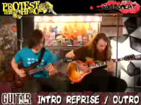 """PROTEST THE HERO-(""""BLOODMEAT"""" GUITAR LESSON)(HD)"""