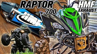 Yamaha Raptor 700 Exhaust Upgrade HMF Competition Full Pipe